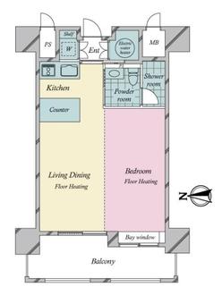 ネクサス百道レジデンシャルタワーの間取図