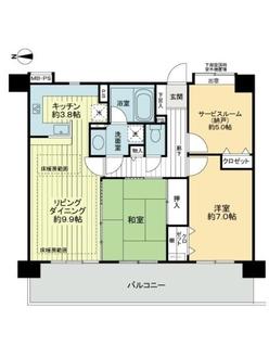 ライオンズマンション武蔵新城ガーデンシティの間取図