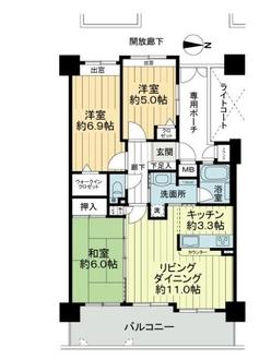 フローレンス上大須賀ターミナルスクエアの間取図