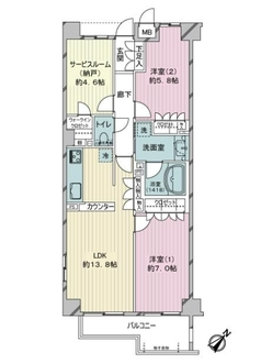 ガーデンホーム南千住EXPlazaの間取図