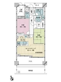 大崎南パークハウスの間取図