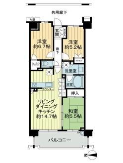 リストレジデンス横濱洋光台の間取図