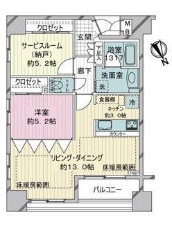 ミオカステーロ横濱南アビターレの間取図