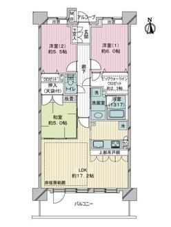 クレストフォルム東京リバーコーストの間取図