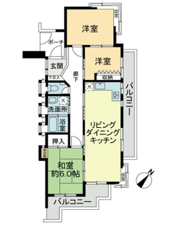 集合邸宅八事本町C棟の間取図