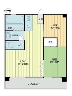 此花厚生年金住宅(高見)C棟の間取図