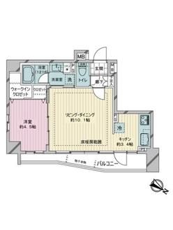 デュフレ渋谷本町の間取図