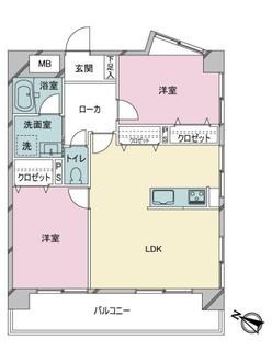 東峰マンション博多駅・東の間取図
