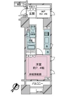 ブリリア銀座idの間取図