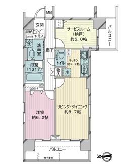 プリムローズ桜台駅前の間取図