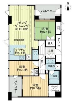 大阪イーストガーデンズタワーの間取図