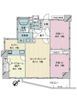 テゾーロ麻生柿生の間取図