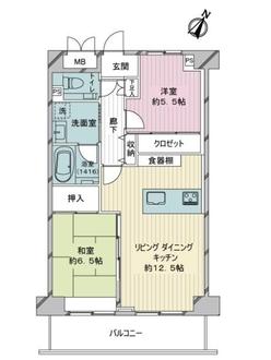 ヴィラフォンターナ千代田富士見の間取図