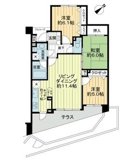 レクセルマンション武蔵浦和の間取図