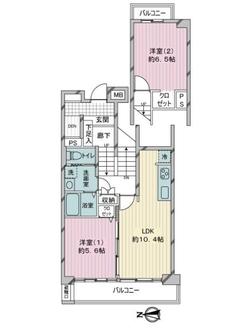川崎河原町分譲共同ビル13号棟の間取図