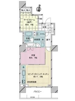ローレルアイ千代田淡路町の間取図