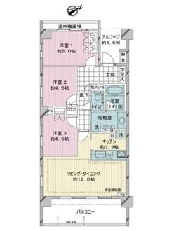 プレサンスロジェ横濱天王町の間取図