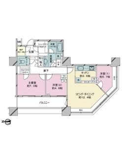 ブリリアタワー東京の間取図
