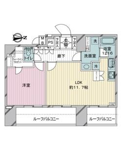 メインステージ西蒲田の間取図