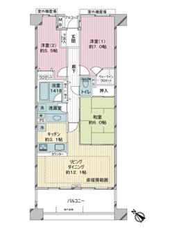 ゼファー横濱サウサリート神之木公園の間取図