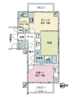 川崎パークハイツの間取図