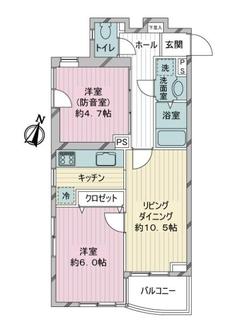 タウンハイツ駒沢の間取図