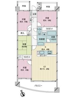レックスガーデン青井アールステージの間取図