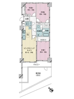 朝日プラザ妙蓮寺2の間取図
