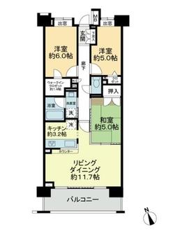 クレストフォルム武蔵野ガーデンコートの間取図