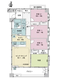 ライオンズガーデン東武練馬 弐番館の間取図