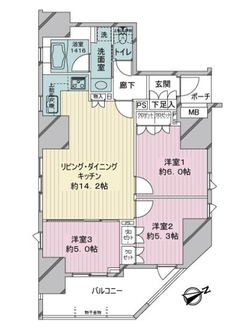 D'クラディア平井TOWER MARKSの間取図