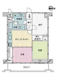 ライオンズマンション西新井本町第2の間取図
