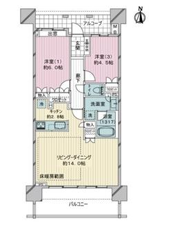 ライオンズ戸田公園アーティスフォートの間取図