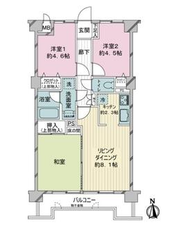ベルハイム戸田の間取図