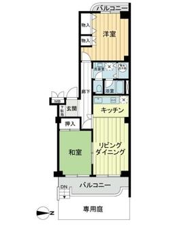 中村グリーンマンション1号棟の間取図