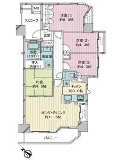 ナイスブライトピア新川崎の間取図