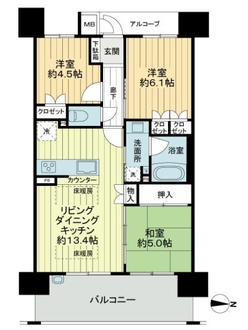 サンマンションアトレ新金岡アクシーレの間取図