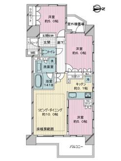 ライオンズ戸田公園ビューティスフォートの間取図