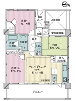 ライオンズヒルズ横濱新子安の間取図