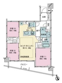 レジデンシャル中野新井薬師の間取図
