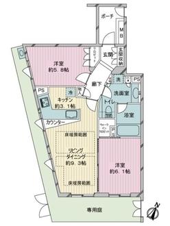小田急コアロード目白西坂の間取図