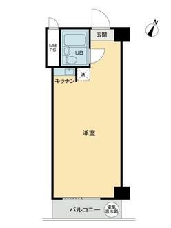 トーカン新宿第2キャステールの間取図
