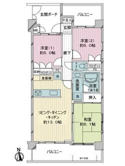 グランイーグル横濱鶴見3の間取図