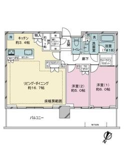 シティタワーズ東京ベイセントラルタワーの間取図