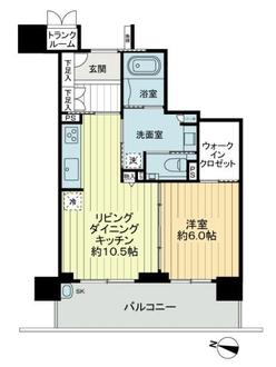 エルグレース神戸三宮タワーステージの間取図