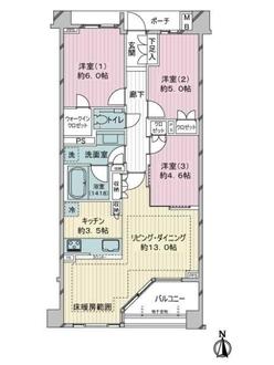 ヴィークステージ練馬豊玉 桜HOUSEの間取図