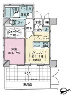 スタジオデン京急蒲田の間取図