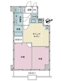 自由ヶ丘第5マンションの間取図