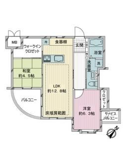 エクセル三田聖坂の間取図