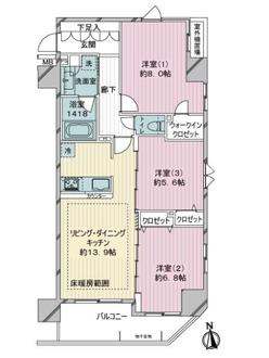 プレディアンスフォート篠崎の間取図
